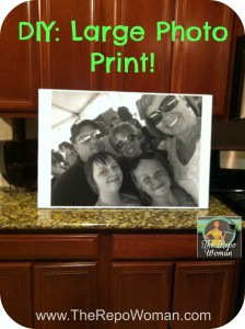 DIY Large Photo Print!  Cheap and Easy Craft project!