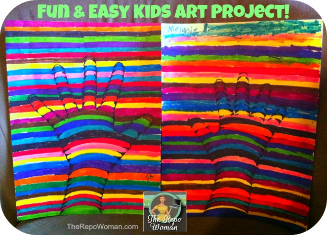 teaching kids art fun easy project to do