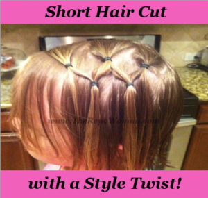Tip!!!  Girl's Short Hair Cut with a Style Twist!!!