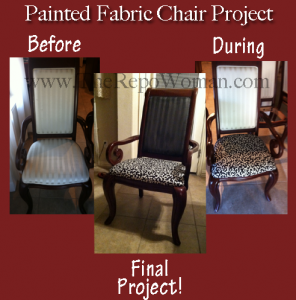 Step by Step Instructions:  How to Paint a Fabric Chair