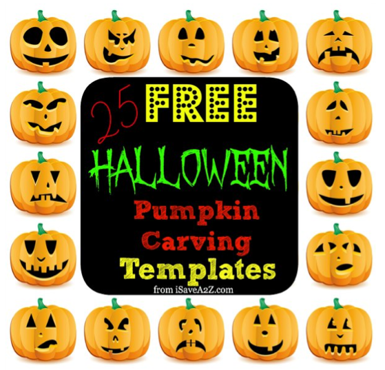 Free Halloween Pumpkin Carving Printable Templates