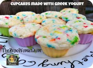 Best Cupcake Recipe:  Made with Greek Yogurt = heathy option!