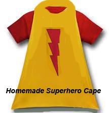 Homemade Superhero Cape and Mask