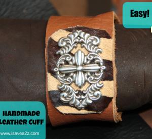 DIY Leather Cuff Bracelet tutorial!