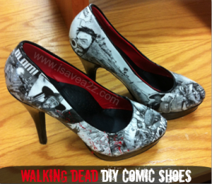 Do It Yourself Comic Strip Shoes!