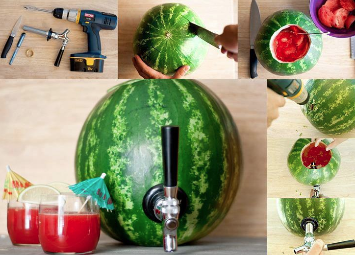 DIY Watermelon Drink Dispenser - The Repo Woman