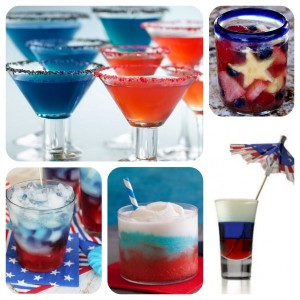 Patriotic Drinks:  Perfect for the 4th of July Celebrations!