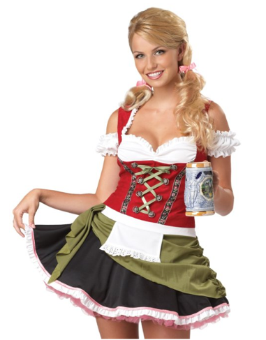 Sexy Bar Maid Halloween Costume Idea